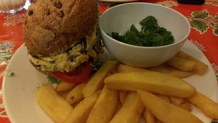 Cheezy stuffed mushroom burger - Revolution