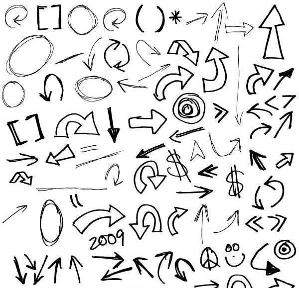 120+ Free Hand-drawn Vector Arrows