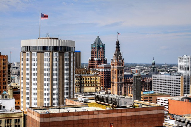 A View toward Milwaukee City Hall from the Gas Building