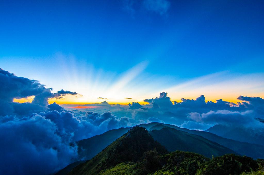 合歡山銀河、雲海、晨昏