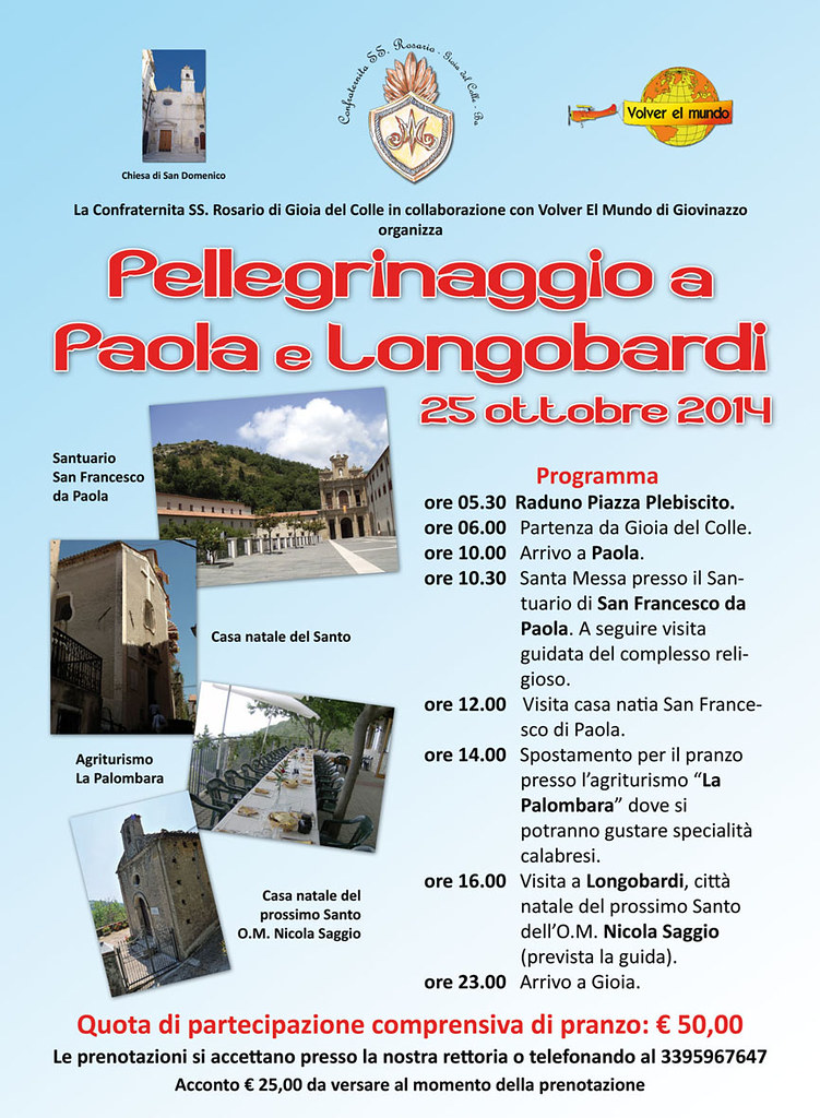 san domenico Pellegrinaggio Paola