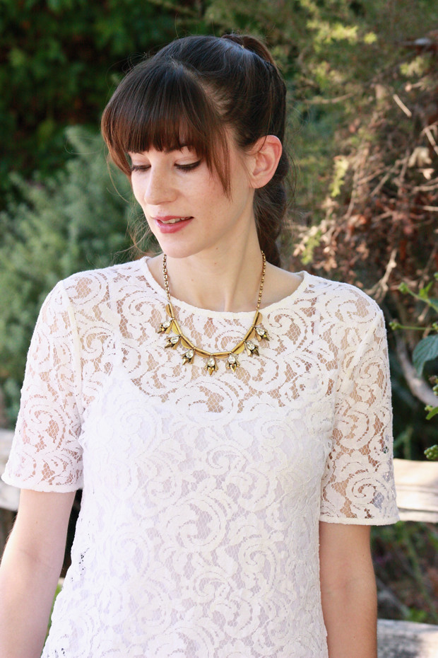 J.Crew necklace, lace top, giveaway