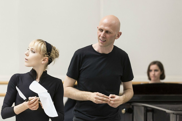 Sarah Lamb and Wayne McGregor in rehearsals for Raven Girl © ROH/Johan Persson, 2013