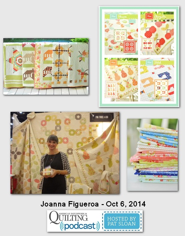 American Patchwork and Quilting Pocast Joanna Figueroa Oct 2014