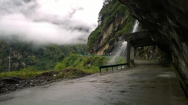 Amazing road near Tibet Nepal border