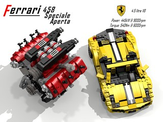 Ferrari 458 Speciale A & UCS V8 Engine (Paris Motorshow 2014)