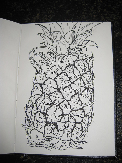 Pineapple - line drawing