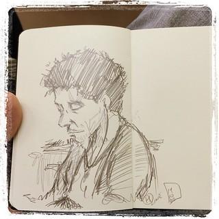 #japon #urbansketch #portraits #metro #moleskine #pentel #kerry