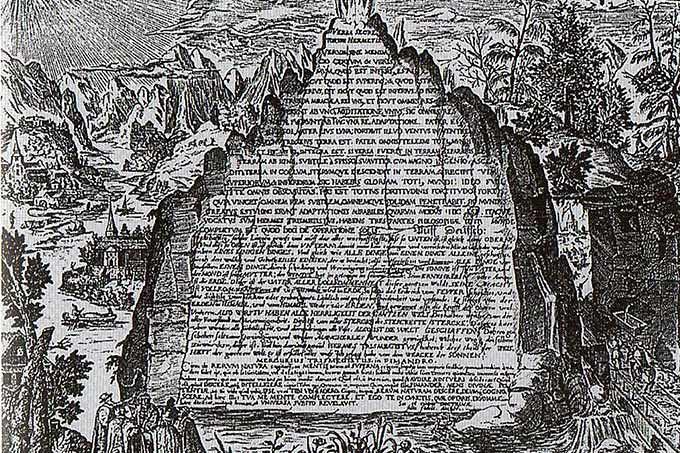 imagen de la tabla esmeralda de Hermes