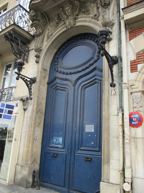 door, blue fancy