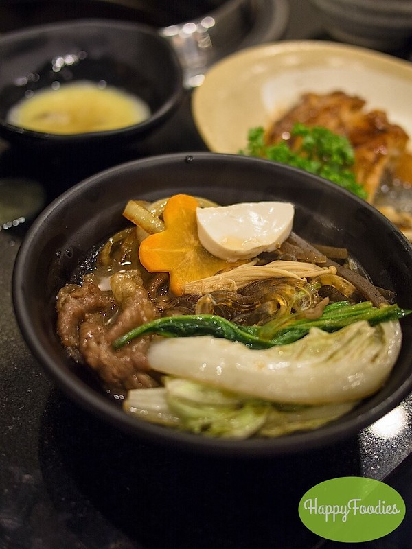 Our bowl of sukiyaki