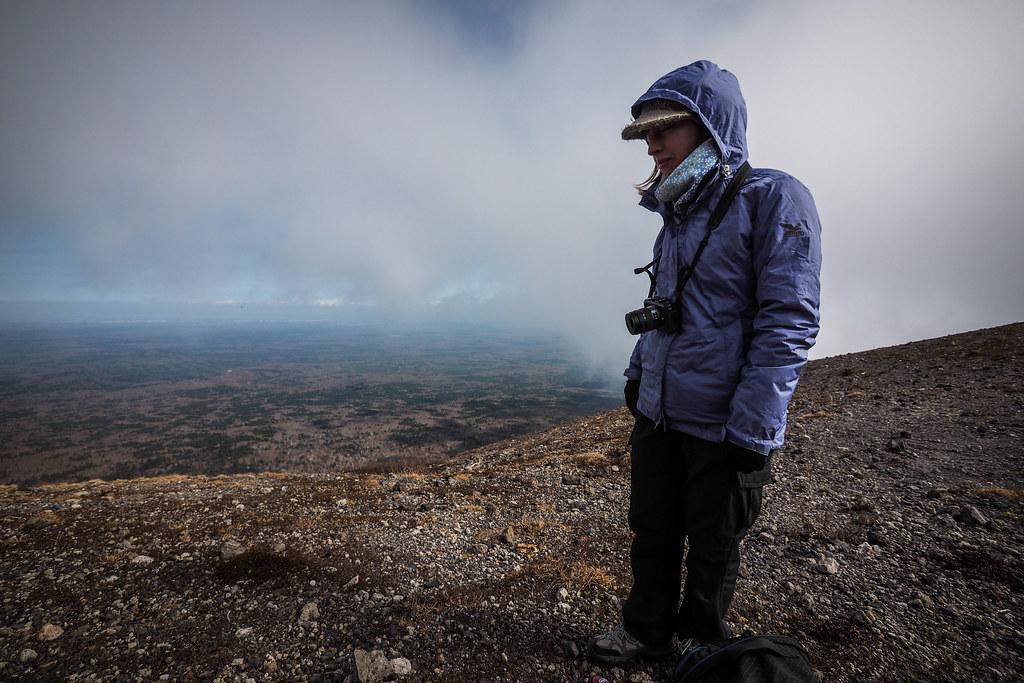 Getting chilly on Mt Tarumae, Hokkaido, Japan