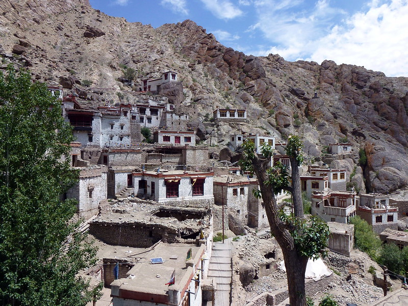 Walking on the Roof of Hemis Monastery