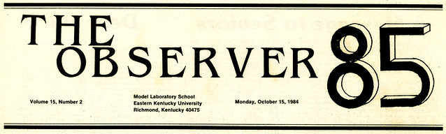 """The Observer"" October 15, 1984 - New Header"