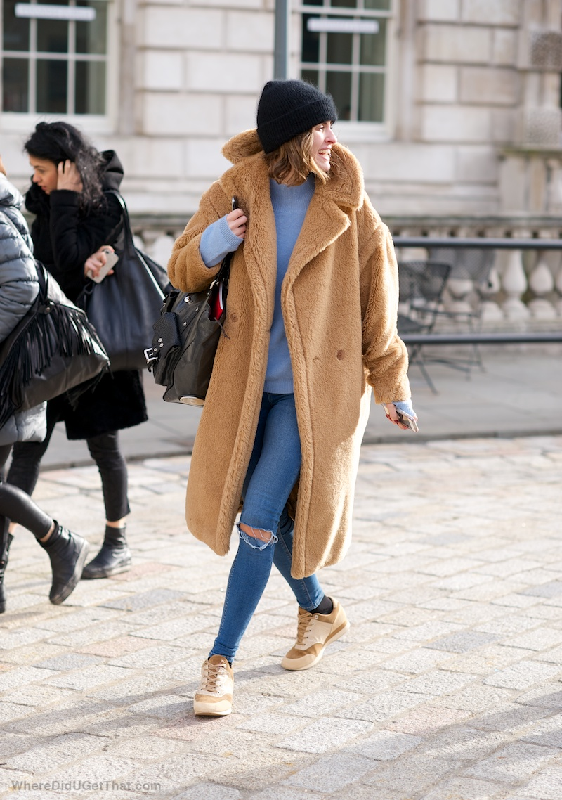 throw on teddy coat