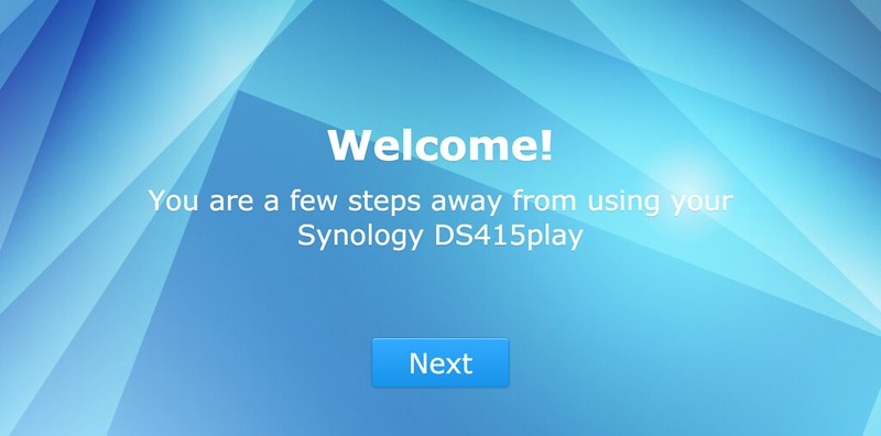 Synology DiskStation - Step 2