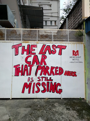 The last car that parked here...