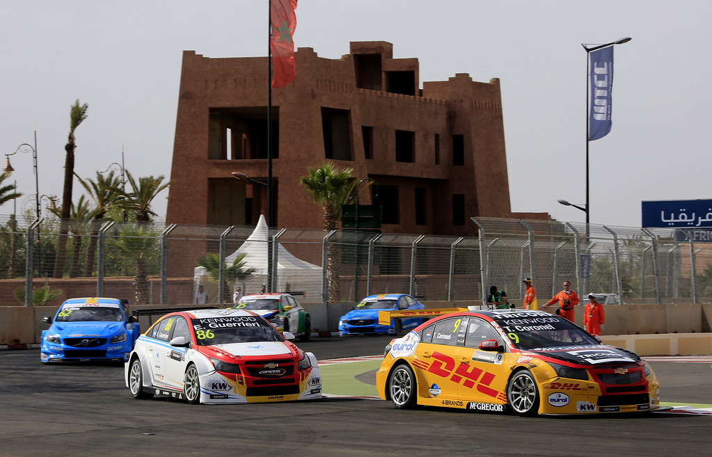 Start race 1 09 CORONEL Tom (ned) Chevrolet RML Cruze team ROAL Motorsport action during the 2017 FIA WTCC World Touring Car Race of Morocco at Marrakech, from April 7 to 9 - Photo Paulo Maria / DPPI