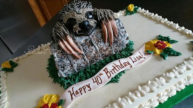Baby Sloth Cake by Rita Lemons of Sweet Harmony Catering LLC