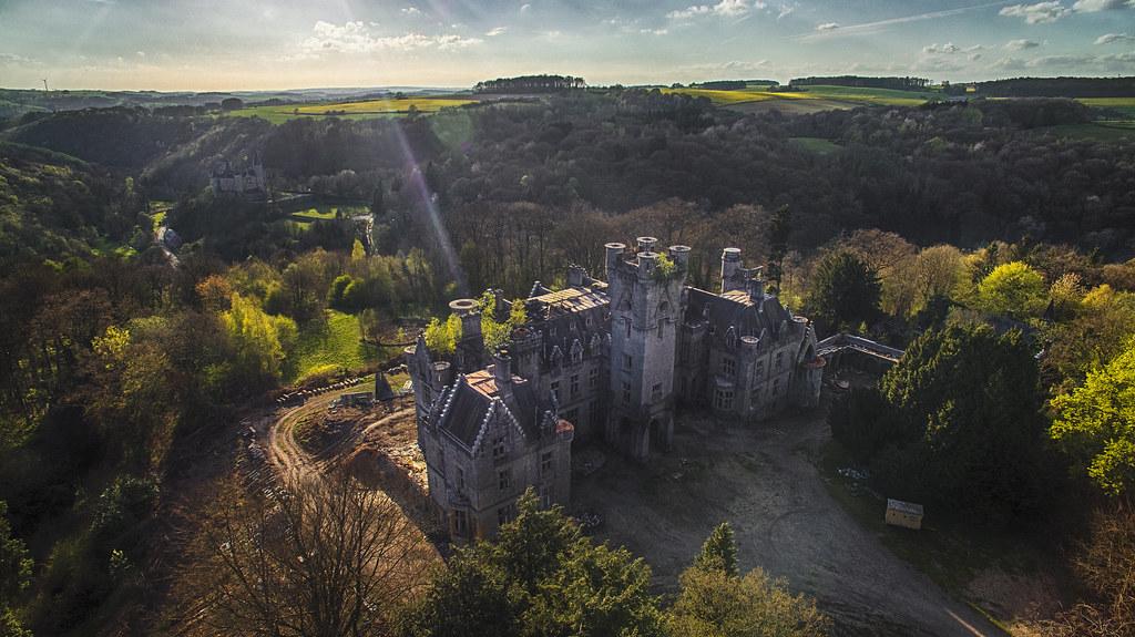 abandoned Chateu Marinda in Belgium