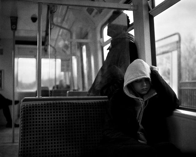 39 A Girl Sleeping on the Metro - East Boldon