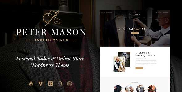 Peter Mason WordPress Theme free download