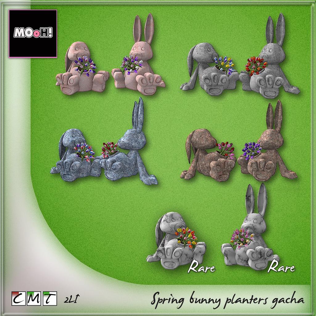 Spring bunny planters gacha - SecondLifeHub.com