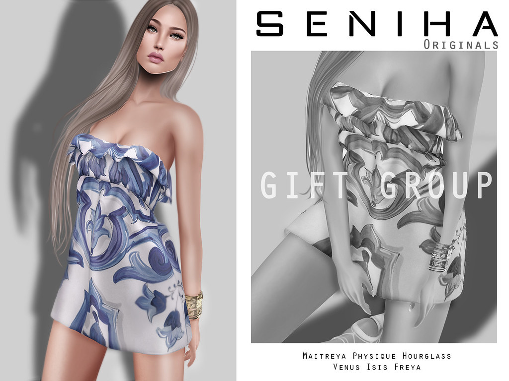 -GIFT- Seniha Originals.Dolche Dress - SecondLifeHub.com