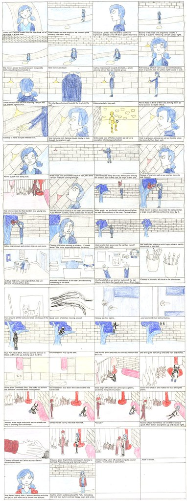 FMP Film 'Colour' Storyboard