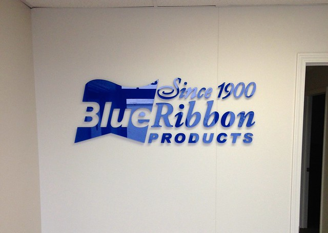 Interior Wall Logo for Blue Ribbon Products Indianapolis