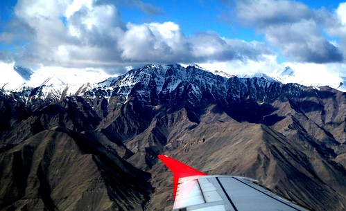 panorama india mountains ice plane airplane asia flight scenic kashmir leh himalayas ladakh