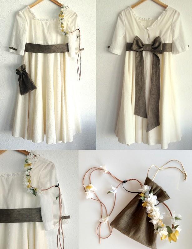 vestido plumeti falda circular