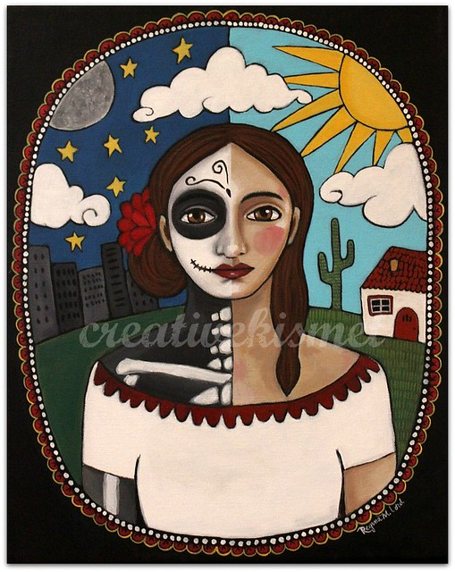 Day of the Dead Girl - Art by Regina Lord