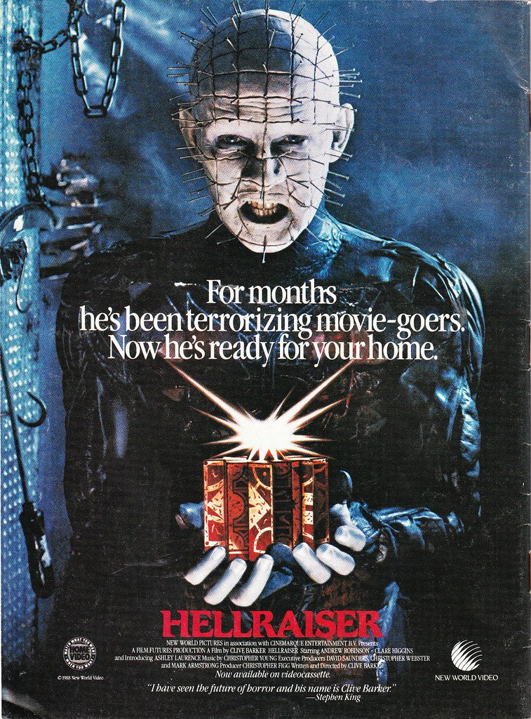 Hellraiser home video ad
