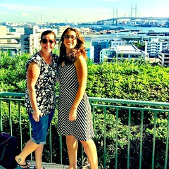 Best. Birthday. Present. Ever. @nzchrissy visits me & @guentheralex in #yokohama!