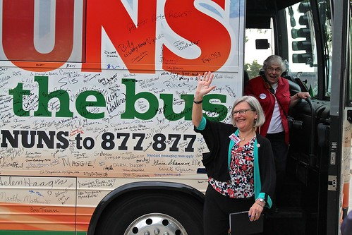 The Nuns on the Bus Voter Registration Project