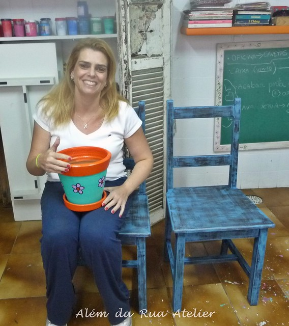 Curso de pintura em vasos e curso de pintura em móveis