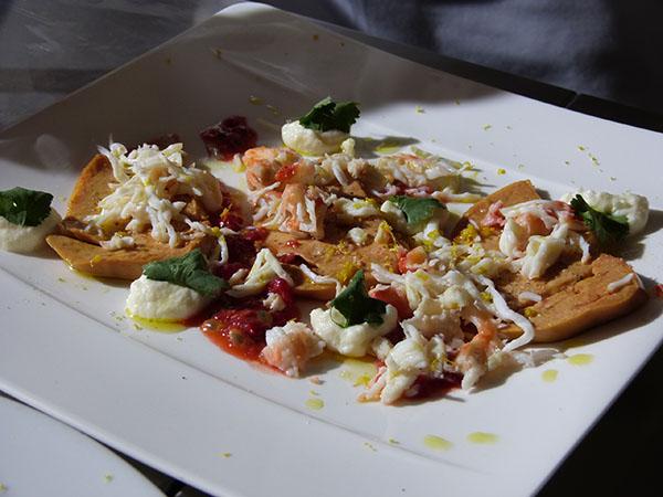 foie gras et crabe