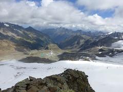 Gletscher gefangen unter Ski-Liften