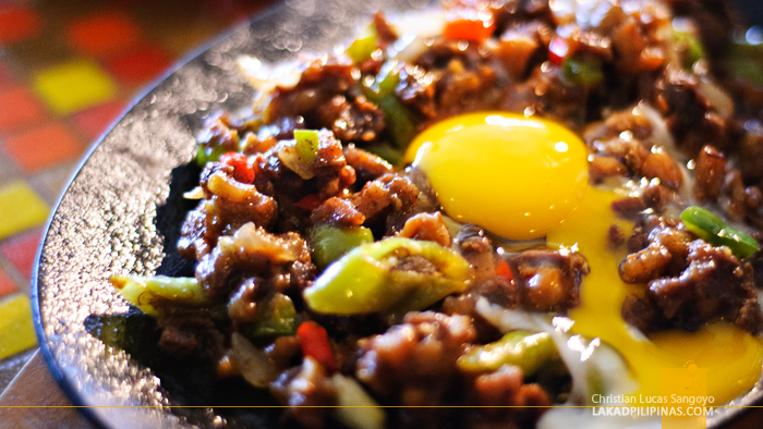 Sizzling Sisig at Mountain Lake Resort in Caliraya Springs