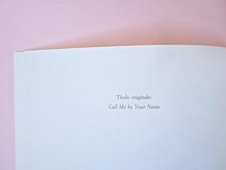 André Aciman, Chiamami col tuo nome. Guanda 2014. grafica di Guido Scarabottolo; illustrazione Giovanni Mulazzani. Colophon (part.), 1