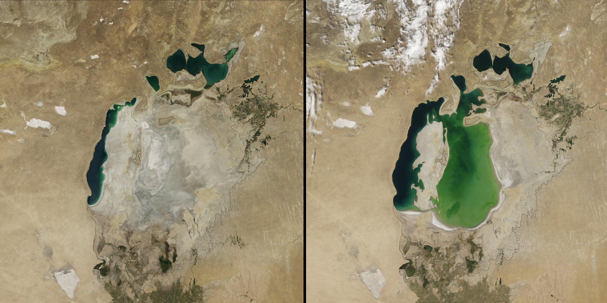 Shrinking Aral Sea