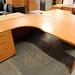 1800 x 1200 beech radial desk