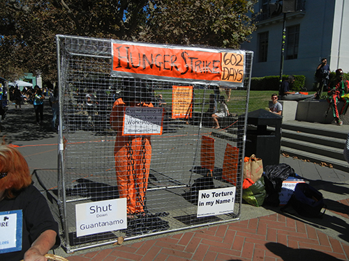 DSCN0346 _ Mock Guantánamo Prison, Free Speech Movement 50th Anniversary, UC Berkeley