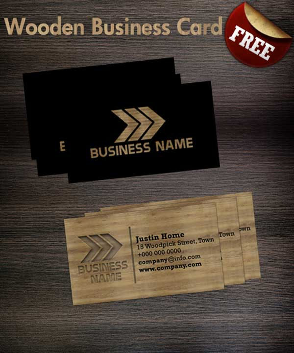 Wooden business card Template