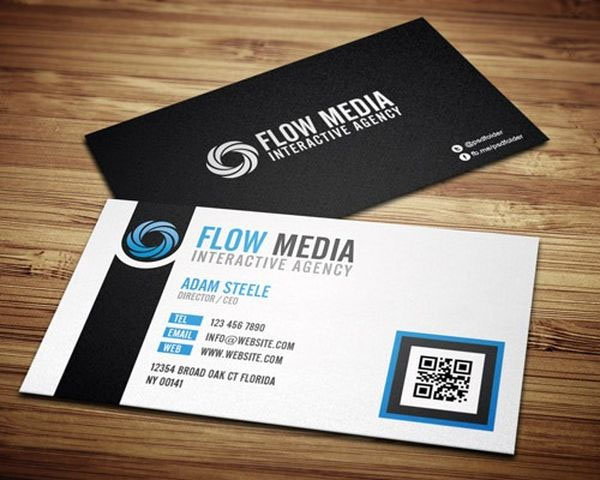 50 creative business cards and psd templates flow media reheart Image collections