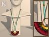 Centuria vendors - burgundy necklace