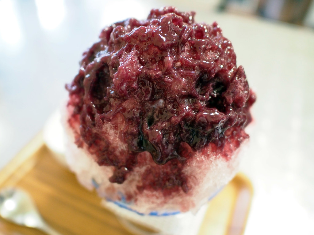 Japanese Shaved Ice Dessert | Double Grape