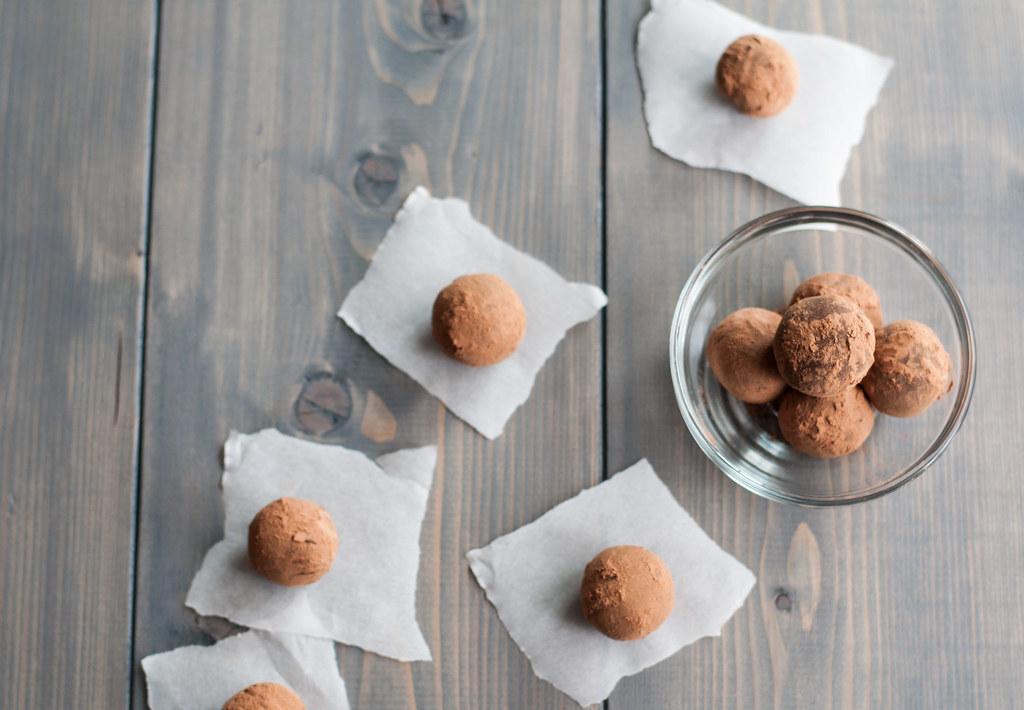 Spicy truffles overhead