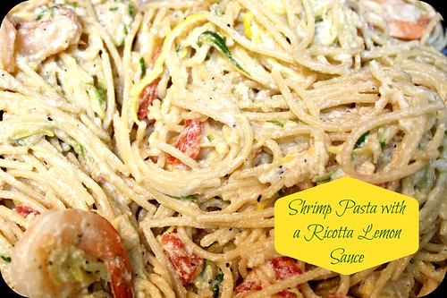 Shrimp Pasta with a Lemon Ricotta Sauce